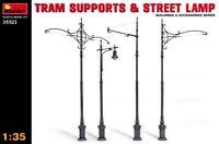 Miniart 1:35 Tram Supports & Street Lamp Model Kit