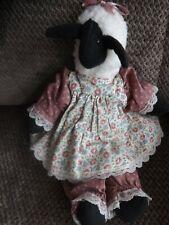"Black Sheep Ragdoll with Apron 13"" Toy, Display Ba Ba Black Sheep Nursery Rhym"