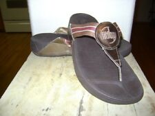 FITFLOP FIT FLOP Bronze Gold Brown Thong Sandals Flip Flops Shoes Sz 9 M