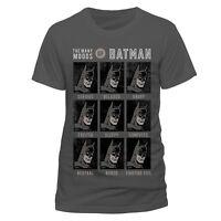 Official Batman Moods Of Batman T Shirt Grey NEW DC Originals S M L XL XXL