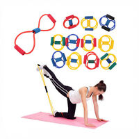Resistance Band Yoga Pilates Abs Exercise Stretch Fitness Tube Workout Bands BH