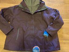 Columbia Women's Winter Ski Jacket Coat New 3X 3XL Plus 3in1 Fleece Hood Purple