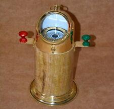 """Antique brass & wooden gimbal compass 10"""" ships binnacle gimballed compass gift"""