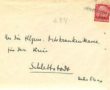 cachet provisoire ALSACE occupation allemande HINDENBURG SURCHARGE HEILIGENSTEIN