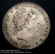 More details for 1818 ef george iii silver crown coin viii lcgs 60 (au58-ms60)