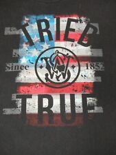 SMITH & WESSON TRIED & TRUE AMERICAN FLAG STARS STRIPES -BLACK 3XL T-SHIRT D1628
