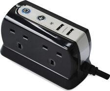 Masterplug USB Charging Surge Plug In 4 Gang Socket -  1m Extension Lead