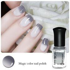 6ml Thermal  Color Changing Nail Art Polish Peel Off Gray to White Nail Varnish