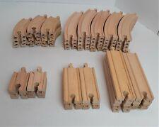 60 Pieces Thomas the Tank Brio Orbrium Wooden Train Track Curve Straight *1911