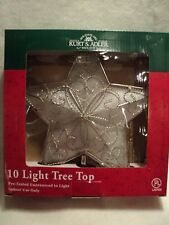 "KSA ""10 Light Star Tree Topper"" ~ MIP ~ NEW ~ Pretty!"