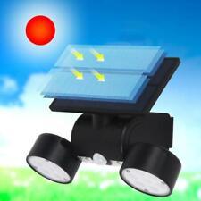 Dual Head LED Solar PIR Motion Sensor Security Light Spotlight Floodlight Lamp