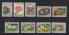 BURKINA FASO SCOTT # 111-3,120,122-6 FLOWERS MNH