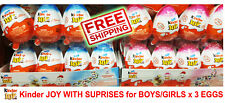 Chocolate Kinder Joy with Surprise Eggs in Toy & Chocolate 3 x Eggs New MALAYSIA