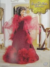 Annie's Attic Southern Belle Fashion Bed Doll Crochet Pattern Red Party Dress