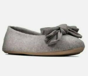 Clarks Ladies Cozily Grace Grey Felt Warm Slippers UK Size 6 D EUR 39.5
