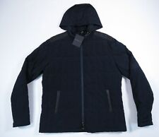 John Varvatos Midnight Blue Hooded Quilted Down Jacket Bian 414 Mens L NEW NWT