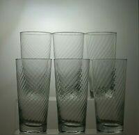 DARTINGTON CRYSTAL CUT GLASS  8 OZ HIGHBALL TUMBLERS SET OF 6