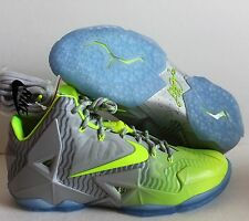 NIKE LEBRON XI 11 COLLECTION MAISON DU METALLIC LUSTER-VOLT SZ 11.5 [683252-074]