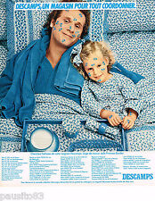 PUBLICITE ADVERTISING 055  1976  DESCAMPS  linge de maison draps