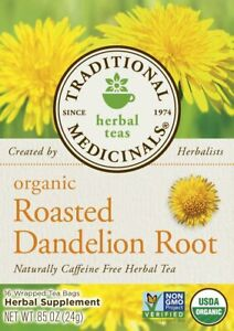 Organic Roasted Dandelion Root Tea by Traditional Medicinals