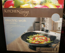 Brand New in Original Box Kitchen Living Electric Wok Non Stick Coating