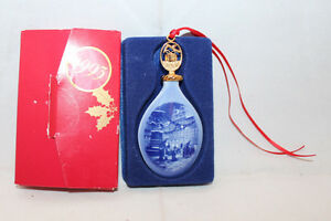 B&G Bing and Brondahl 1993 Father Christmas in Copenhagen Ornament Blue Vintage