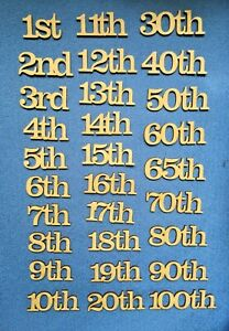 Wooden MDF  Birthday Celebration Anniversary Numbers  craft shapes nd,st,th