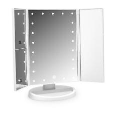 Cosmetic Illuminated 21 LED Vanity Mirror Tri-Fold Compact Pocket Lights Chic UK
