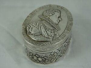 MAGNIFICENT, GERMAN silver TABLE TRINKET BOX, c1890, 188gm