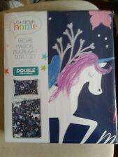 Magical magic Unicorn Kids Girls Bedding Duvet Quilt Cover Set Reversible DOUBLE