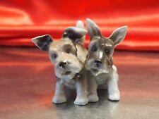 2 Antique Porcelain dogs Norwich Scottie Scottish terrier Studio mark Germany*