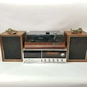 Panasonic RE-7070 AM/FM Stereo 8-Track Receiver w/RE-7673 Turntable & Speakers