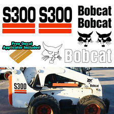 Bobcat S300 S 300 Skid Steer Set Vinyl Decal Sticker 7 PC SET + DECAL APPLICATOR