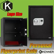 Kenner Personal Electronic Biometric fingerprint Safe Security Box with Code Key