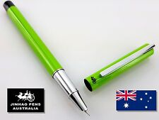 JINHAO 211 Apple Green Hooded Fountain Pen Extra Fine Nib + 5 Black Cartridges