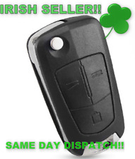Opel Corsa Astra Vectra Signum Vauxhall Car Key 3 Buttons Flip Remote Folding