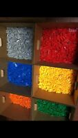 Brix Bulk Lot Sold by the Pound ASSORTED COLORS 2x4 Stud Building Bricks ONLY