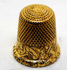 14K Yellow Gold Wise Sewing Thimble Size 8