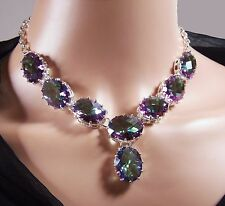 Stunning Mystic Topaz Droplet Necklace (NB015)