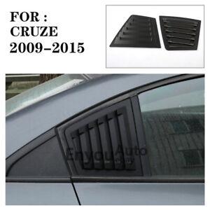 Matte black Side Window Louver shutter Cover Fit FOR Chevrolet cruze 2009-2015