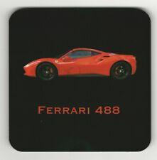 Ferrari 488 Dorso de Corcho Posavasos Rojo