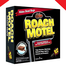 Black Flag ROACH MOTEL 2 Traps 4 Month Insect Pest Control Glue Trap Killer Bait