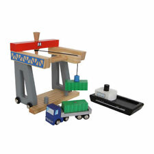 Wooden Pier Container Terminal for Road & Rail.  Small Foot -  Brio Big Jigs ELC