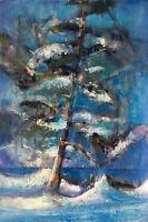 Killington Vermont Winter Wonderland 26x20 in. Acrylic on panel  Hall Groat Sr.