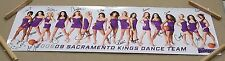 "2008 SACRAMENTO KINGS DANCE TEAM AUTOGRAPHED POSTER 36"" BY 12 1/8"""