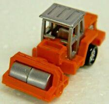Galoob Micro Machines - Construction ROAD ROLLER - Orange & Silver - Nice Cond\