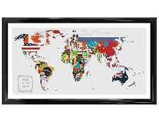 Banderas del mundo-map puntada cruzada contada Kit