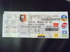 Entradas - 2004 Stade Rennais FC V Montpellier, 23 de mayo, campeonato de fútbol