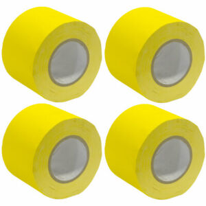 4 Pack of Gaffer's Tape - Yellow 4 inch Rolls 60 Yards per Roll Gaffers Tape