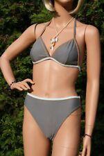 2017/18 Collection 380027 Marken Neckholder Bikini Slip Hell Grau in 38 A/B